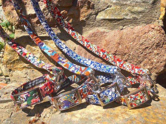 Liberty Art Fabrics dog collars and leads
