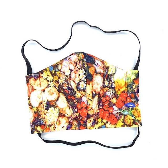 floral fabric face covering