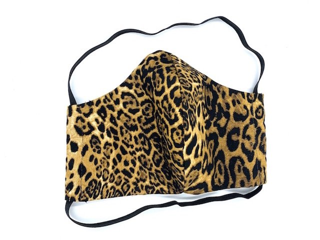 Reusable Face Covering in Leopardskin Print