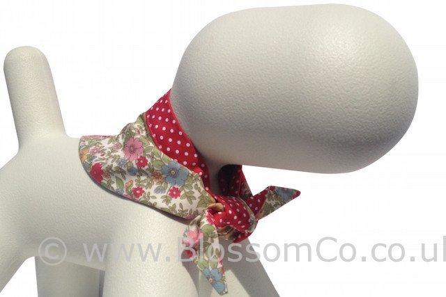 floral dog bandana