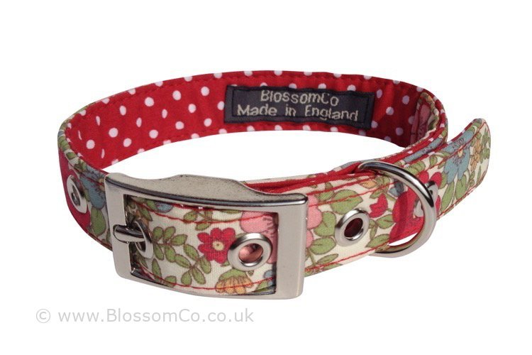 Alice – Pretty Floral Dog Collar