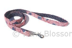 Stars and Stripes is an American flag heme dog leash
