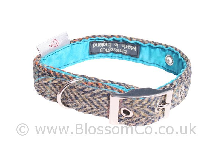 Barra Harris Tweed Dog Collar by BlossomCo