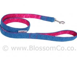Berneray Blue Harris Tweed Dog Lead by BlossomCo