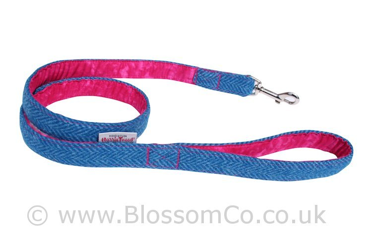 Berneray Blue Harris Tweed Dog Lead by BlossomCo