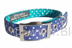 Bertie – Fabulous Two-Tone Blue Polkadots