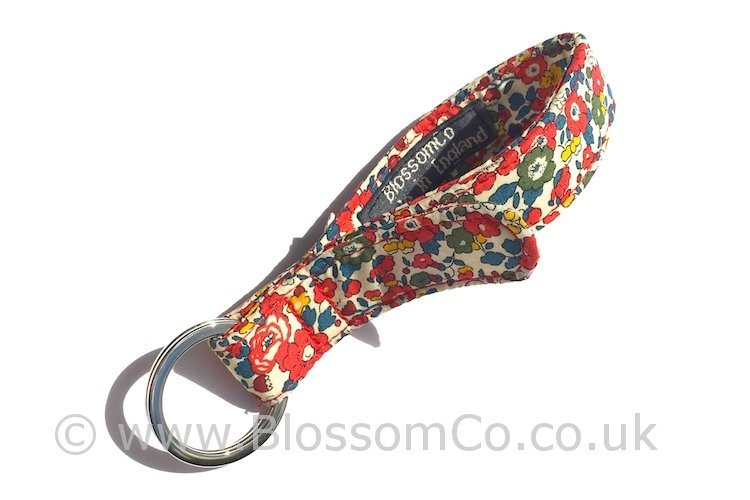 beautiful Betsy Liberty Art Fabrics keyring by BlossomCo
