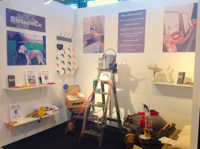 The BlossomCo stand at the NEC Spring Fair 2014