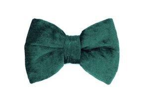 handmade green velvet bowtie for dogs