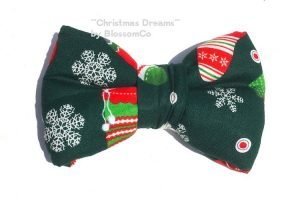 Christmas Pattern Bowtie for dogs