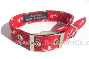 Christmas Reindeer pattern dog collar