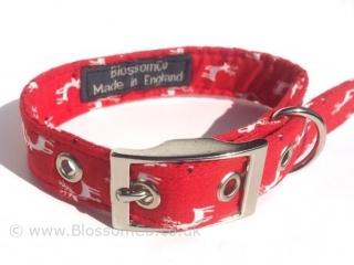 Christmas Reindeer pattern dog collar