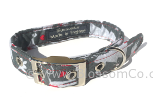 Christmas snow theme design dog collar