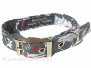 Christmas snow theme design dog collar