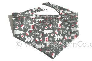christmas snow pattern fabric bandana for dogs