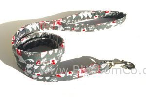 Christmas theme patterned fabric dog lead