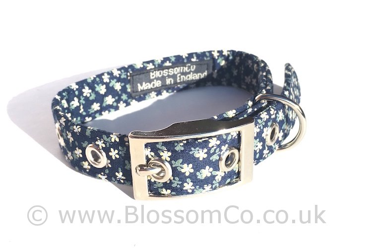 Dorothy - Blue Floral Dog Collar
