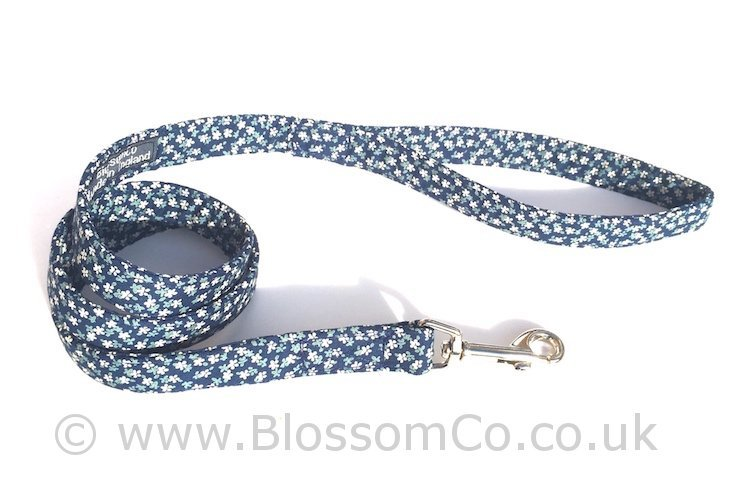 Dorothy - Blue Floral Dog Lead