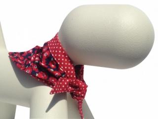 beautiful poppy and red polka dot design dog bandanas