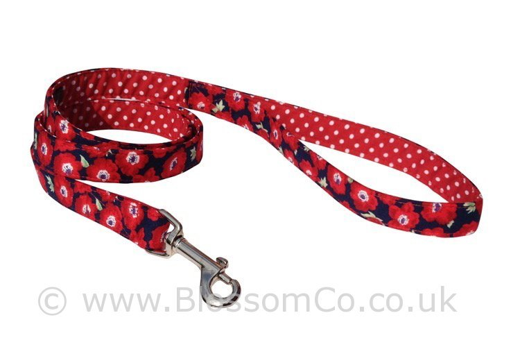 Elizabeth – Red Floral Dog Lead