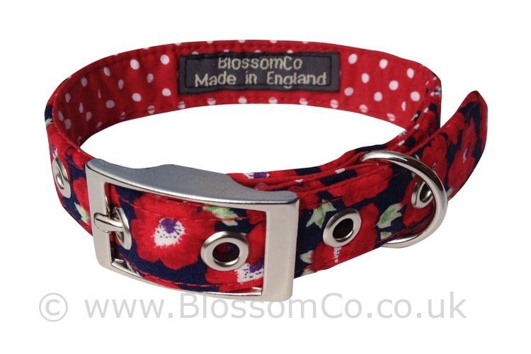 Elizabeth – Red Floral Collar