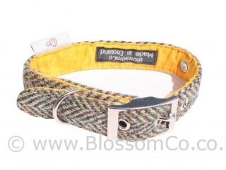 Eriskay Harris Tweed Dog Collar by BlossomCo