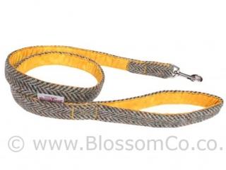 Eriskay Yellow Harris Tweed Dog Lead by BlossomCo