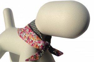 bright floral design dog bandanas