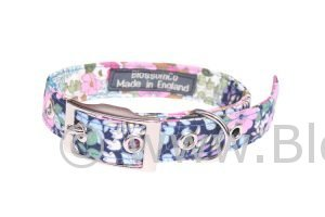 Flora by BlossomCo is a very pretty, floral design dog collar