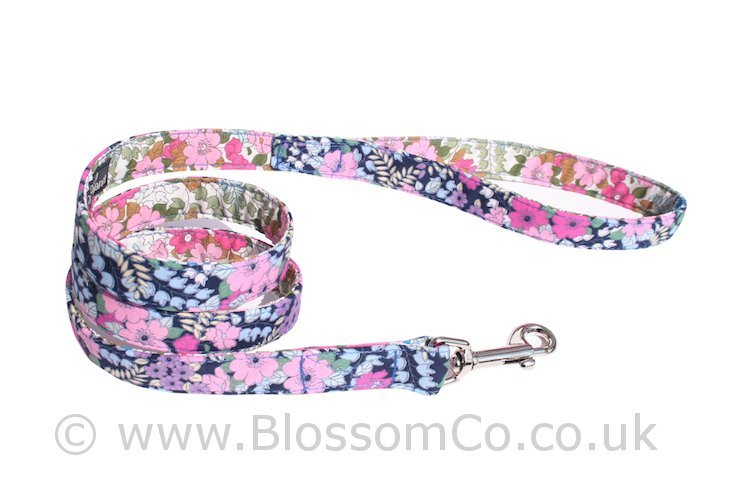 Flora by BlossomCo is a very pretty floral design dog lead