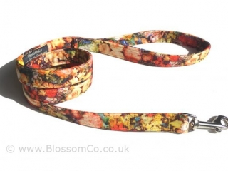 Floral dog lead handmade in UK