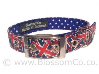handmade in great Britain patriotic Union Jack design dog collar