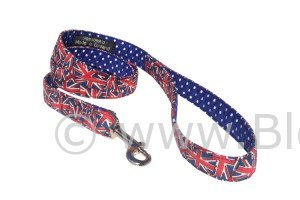 "BlossomCo ""Jack"" dog lead in unusual Union Jack design fabric"