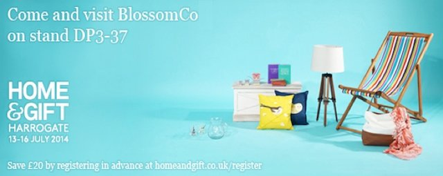 BlossomCo exhibition details for Harrogate Home and Gift Fair 2014
