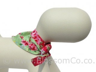 gorgeous green and floral pattern dog bandana accessories