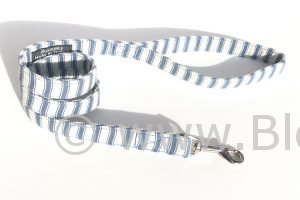 Huntingdon - Blue and White Stripes Dog Lead