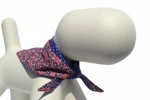 The best Union Jack pattern dog bandana scarf handmade in Great Britain