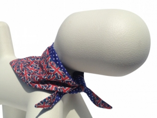 The best Union Jack pattern dog bandana scarf handmade in Great Britain