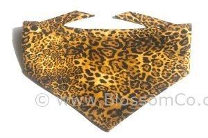 handmade dog bandana in leopardskin print