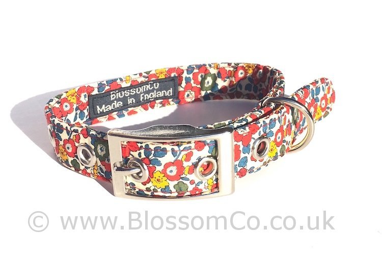 Liberty Fabric - Betsy Dog Collar