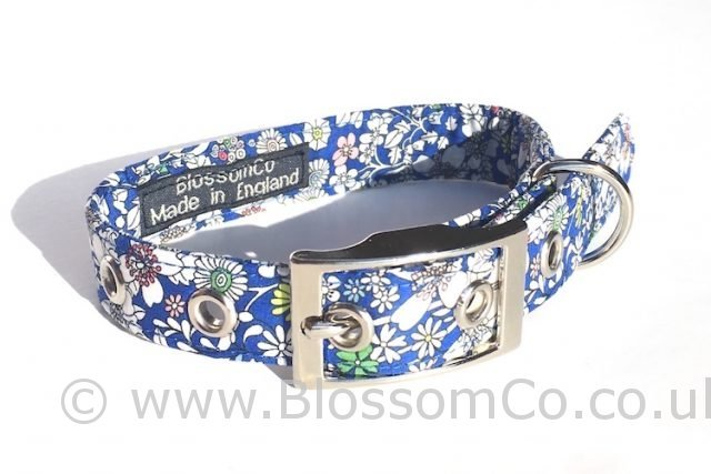 Liberty Fabric - Junes Meadow Dog Collar