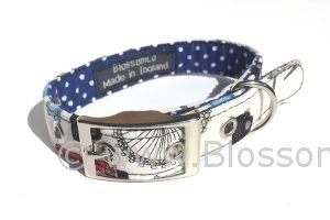 dog collar with London landmarks design