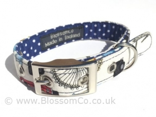 dog collar with London landmarks design