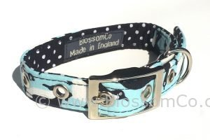 dog collar with penguin design