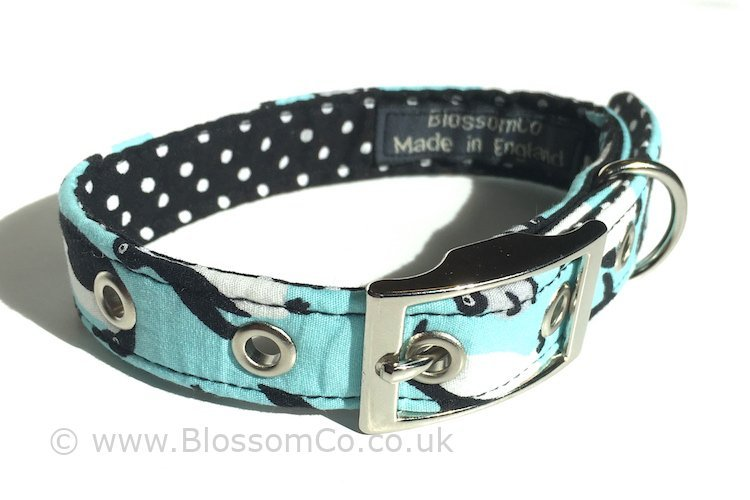 Penguin theme dog collar
