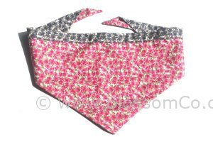 beautiful pink floral dog bandana