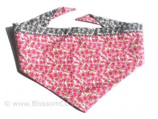 beautiful pink floral dog bandana