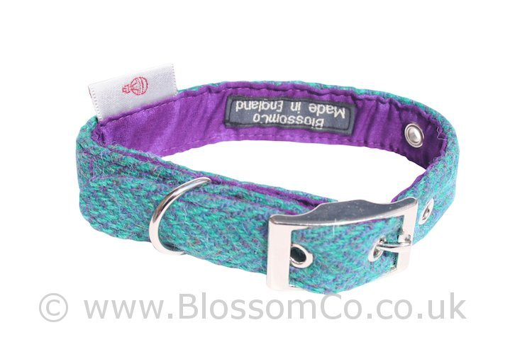Scalpay Harris Tweed Dog Collar by BlossomCo