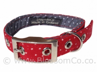 The stunning Stanley design - handmade, made in England dog collars by BlossomCo