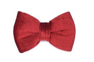 handmade luxury red velvet bowtie for dogs